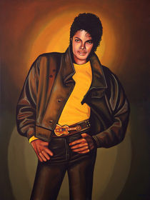 Michael Jackson painting by Paul Meijering