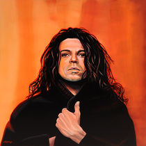Michael Hutchence of INXS painting by Paul Meijering