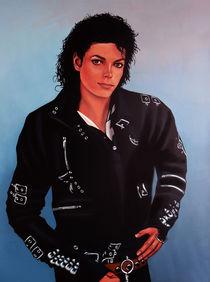 Michael Jackson Bad painting by Paul Meijering