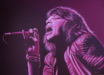 Mick Jagger painting 2 by Paul Meijering