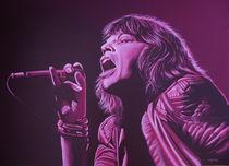 Mick Jagger painting 2 von Paul Meijering