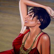 Natalie Imbruglia painting  von Paul Meijering