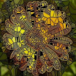 Yellow-flower-as-stained-glass