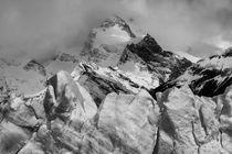 Mountain of Ice, Patagonia, b/w von travelfoto