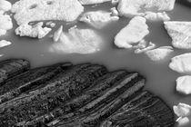 Ice floe, Perito Moreno Glacier, Argentina, b/w by travelfoto