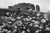 Stone castle, Lofoten islands, black and white von travelfoto