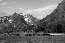 Landscape Lofoten Islands, Norway, b/w by travelfoto
