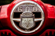 Grill Logo Detail - 1950s-vintage Ford 601 Workmaster Tractor by Jon Woodhams