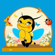 Bee and honey by larisa-koshkina