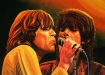 Stones Mick and Keith painting von Paul Meijering