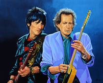 The Stones Ron & Keith painting von Paul Meijering
