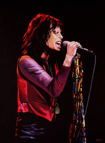 Steven Tyler of Aerosmith painting by Paul Meijering