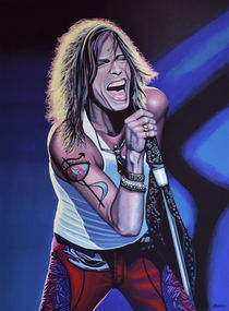 Steven Tyler painting 3 by Paul Meijering