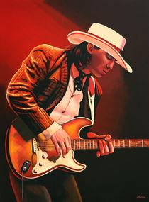 Stevie Ray Vaughan painting  von Paul Meijering