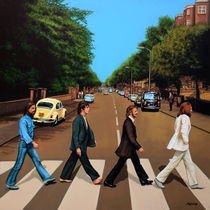 The Beatles Abbey Road painting  von Paul Meijering