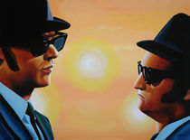 The Blues Brothers painting von Paul Meijering
