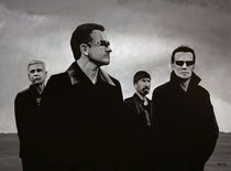 U2 painting von Paul Meijering