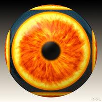 Oranger Augapfel - by Viktor Peschel