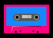 Cool Cassette Tape - Retro Vintage Pop Music  by Denis Marsili