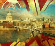 St. Paul cathedral and Thames by nidigicrea