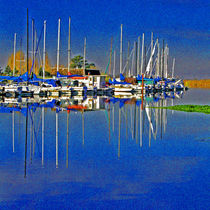 A View of a Delta Marina by Joseph Coulombe