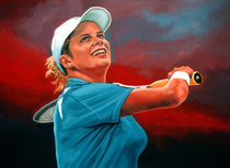 Kim Clijsters painting by Paul Meijering