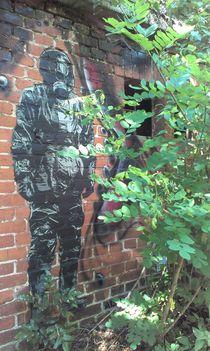 stormtrooper hides in the forest von noname art
