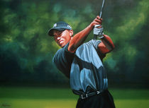 Tiger Woods painted von Paul Meijering