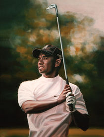 Tiger Woods painting  von Paul Meijering