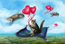 Flying Squirrels von Carolyn Slattery