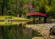 Red Bridge - Memphis Botanic Garden von Jon Woodhams