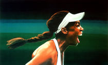 Venus Williams painting by Paul Meijering
