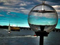 Sailing in Sydney Harbour von Stephen Lawrence Mitchell