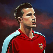Robin van Persie painting by Paul Meijering
