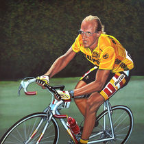Laurent Fignon painting by Paul Meijering
