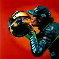 Valentino Rossi portrait by Paul Meijering