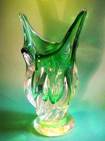 Eine Vase aus grünem Glase von techdog