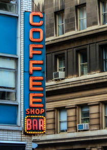 Union Square Coffee Shop Sign von Jon Woodhams