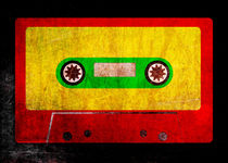 Grunge Reggae Cassette Tape - Cool Retro Music Prints von Denis Marsili