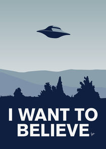 My I want to believe minimal poster-xfiles von chungkong