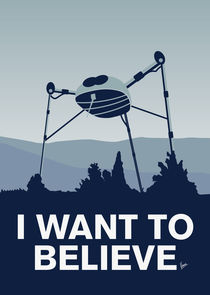 My I want to believe minimal poster-war-of-the-worlds by chungkong
