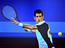 Novak Djokovic painting by Paul Meijering
