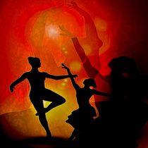 Tänzer und ihre Schatten by mehrfarbeimleben
