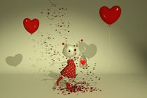 The Captured Heart - Whimsical Valentine's Day Art von Liam Liberty