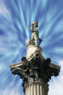 The statue at the top of Nelson's column in Trafalguar Square,London by Luigi Petro