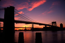 Brooklyn Bridge at dawn by Peter Coles