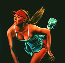 Maria Sharapova painting by Paul Meijering