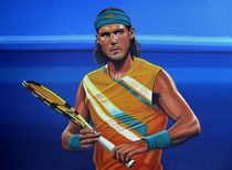 Rafael Nadal painting by Paul Meijering