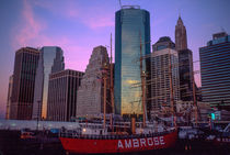 South Street seaport (New York) at dawn by Peter Coles