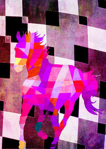 Horse-colors-geometric-bw-background-and-textures